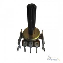 Potenciometro Linear 20kB Eixo 25mm C/ Suporte